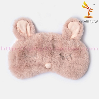 Fashion ladies plush sleep eye mask