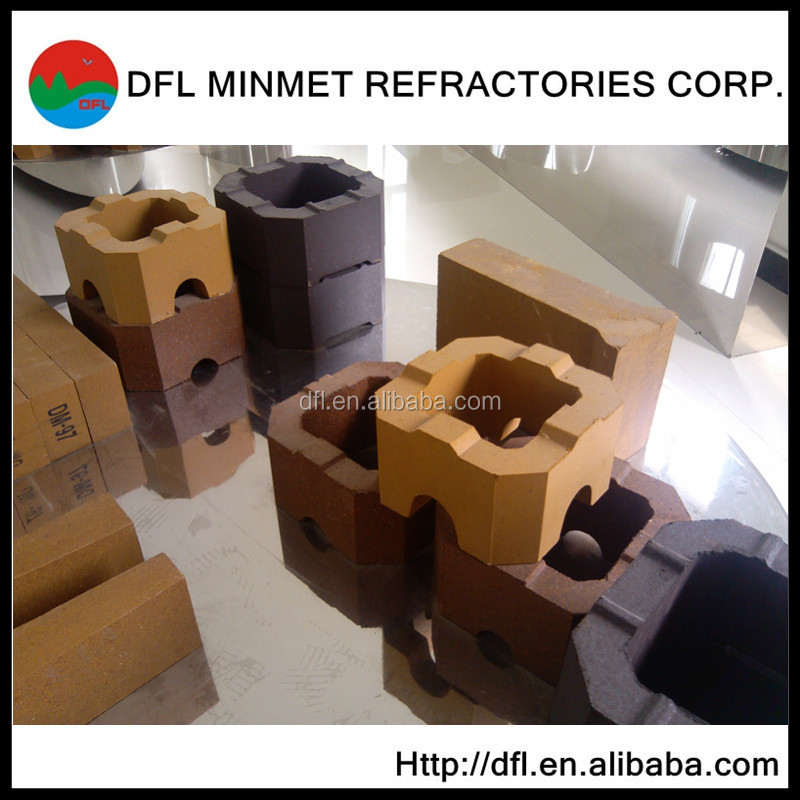 China made cheap magnesite checker bricks for glass furnace regenerative chamber