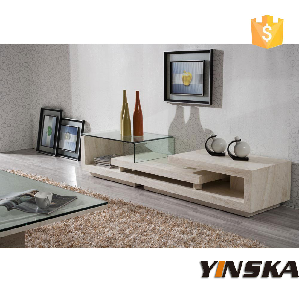 fancy design marble tv stand furniture, stone tv cabinet