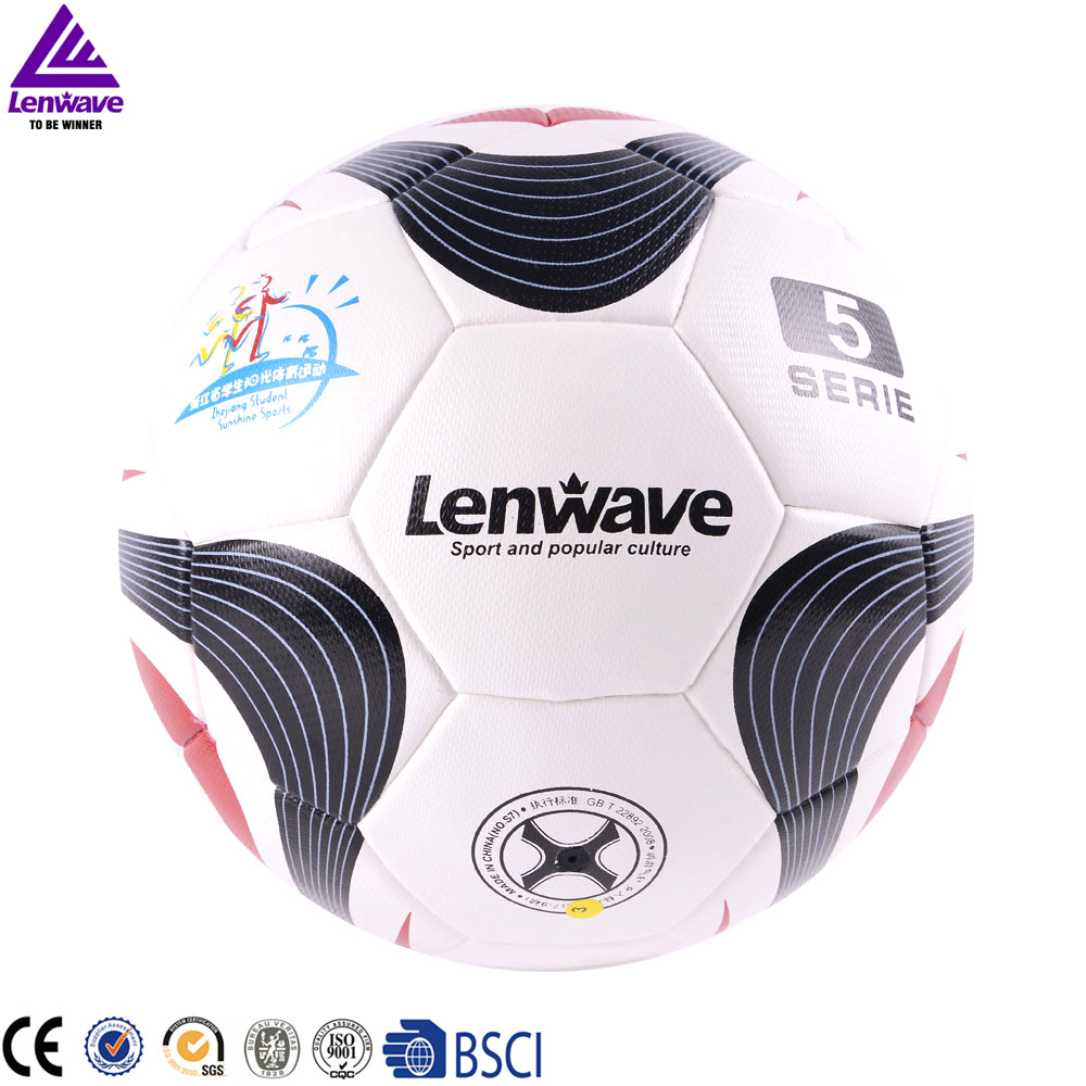Lenwave brand factory wholesale size 5 football soccer ball