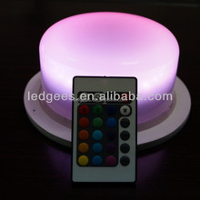 Wholesale Led light Remote Control RGB Rechargeable diy led ...