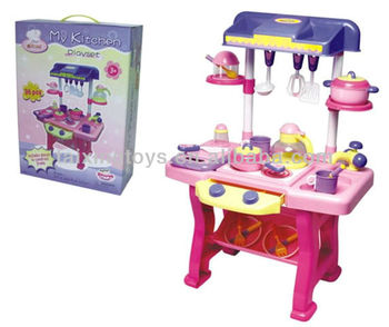 Wholesale Price Big Pretend Kitchen Set Toys For Kids With Ce Test