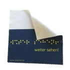 Custom size microfiber digital color lens cleaning cloth