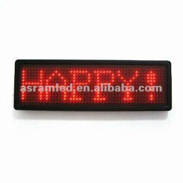 good price indoor programmable mini led name badge tag display board