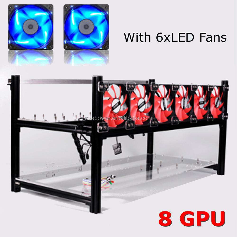 8 GPU Only Aluminum Frame Ethereum Zcash