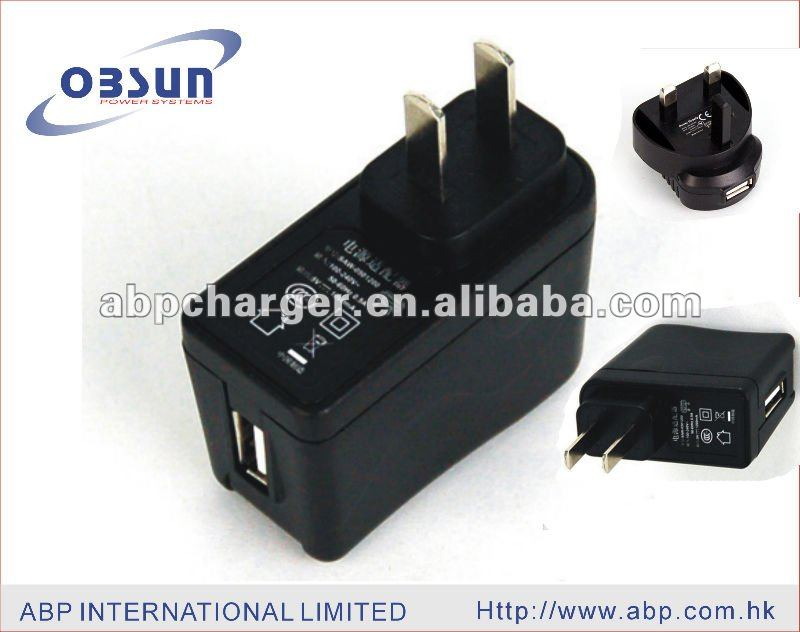 5V1A 6W usb power adaptor for consumer electronic products