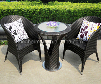 Patio Wicker Table And Chairs Balcony Rattan Dining Set