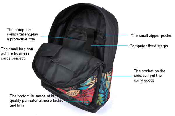 nylon 600d laptop backpack