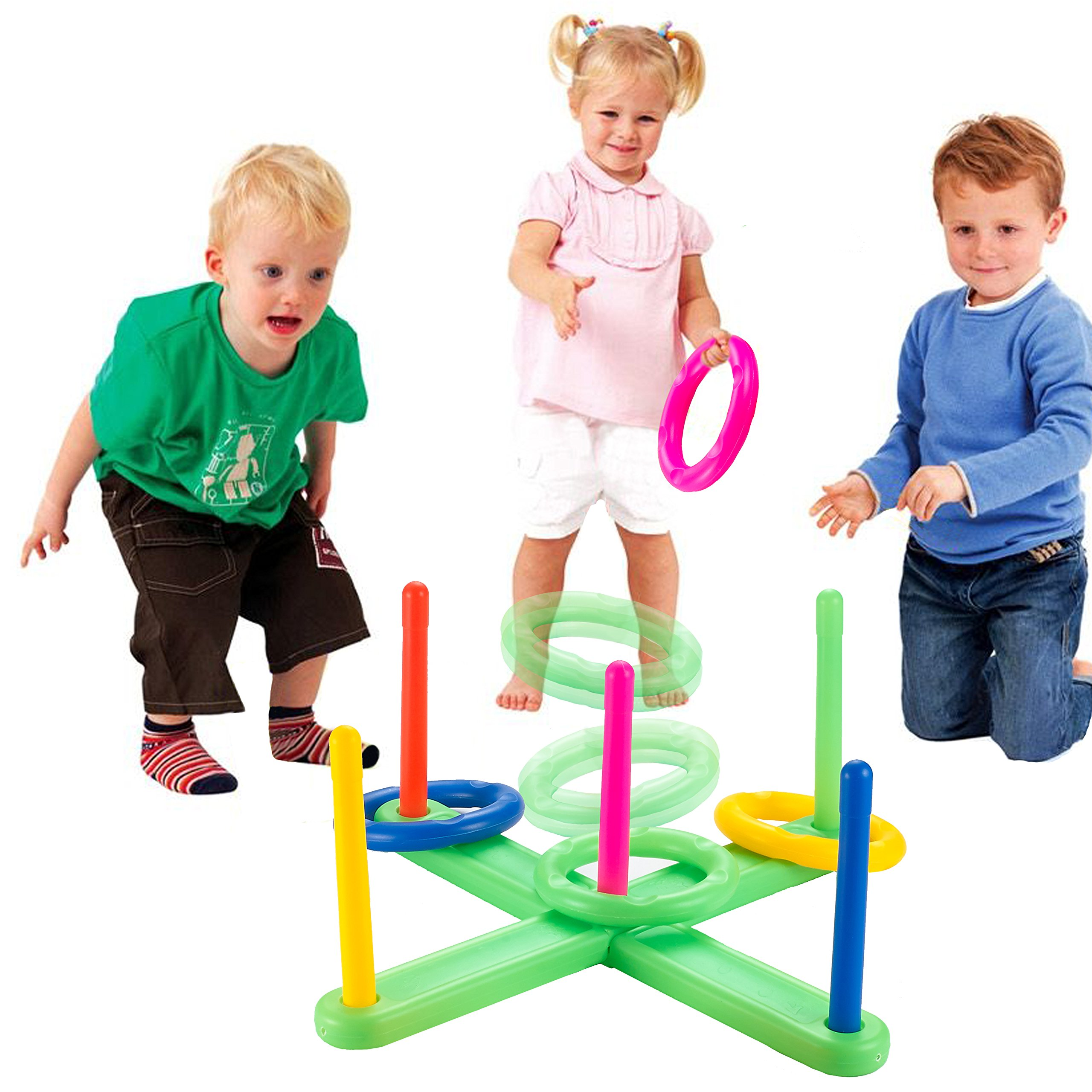 Minihorse-Ring Toss Game,Kids Games Improve Eye-Hand Coordination and Fine Motor Skills,Loop Hoop Ring Toss Game,Outdoor/Indoor Quoits Ring Game For Kids or Family,Gift for Kids 4-15 Years Old