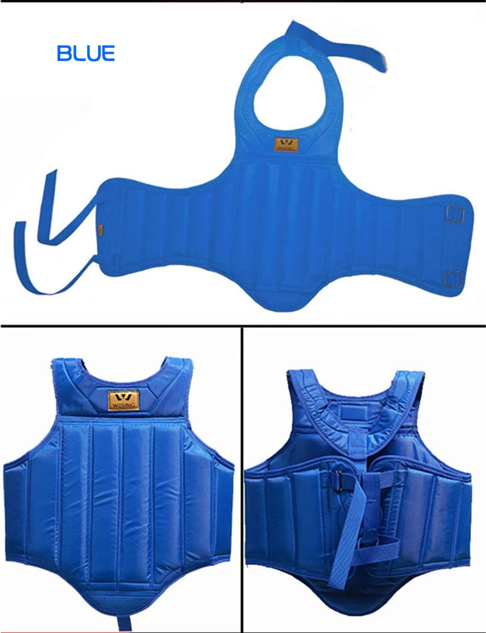 Wesing Boxing Chest Protector,Sanda Taekwondo ผู้ใหญ่ Chest Protector,ผ้า Oxford