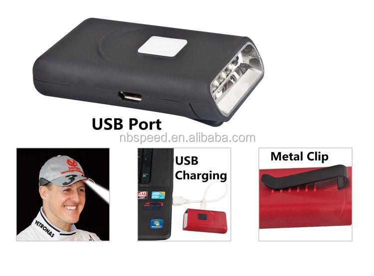 Usb Rechargeable Led Cap Light With Metal Clip,5led Cap Light ...