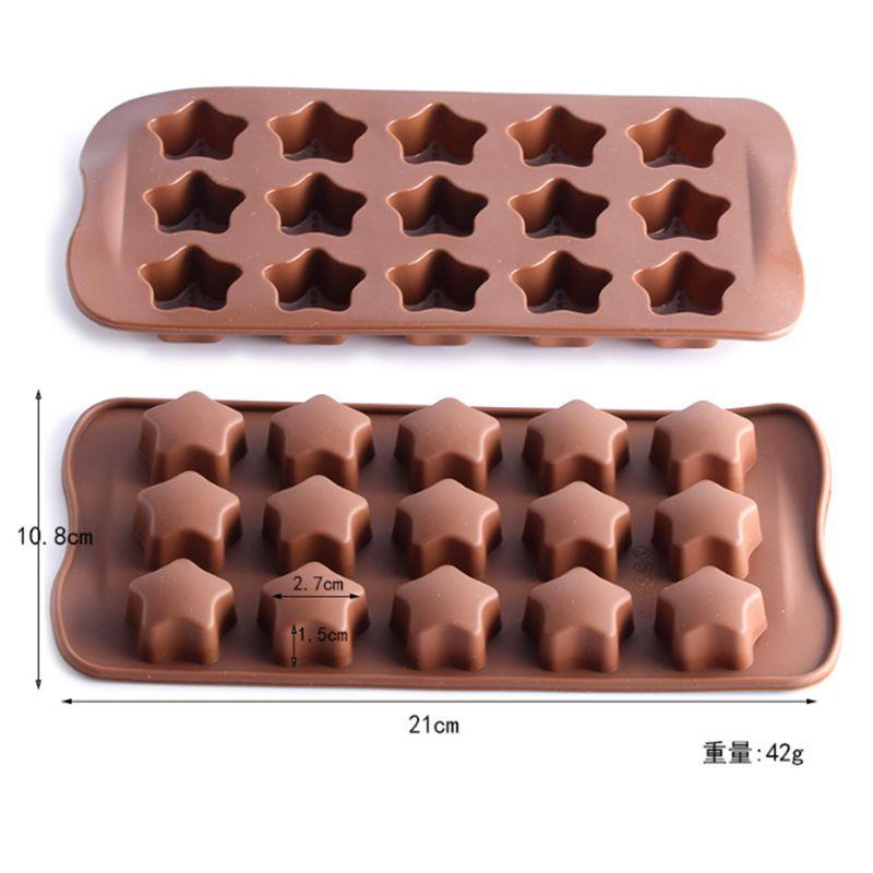 forma de jab/ón galletas cubitos de hielo molde para chocolate Molde de silicona con 6 cavidades molde para tartas SIMUER