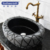 Cheap bird shape granite Shanxi black natural modern stone bathroom vessel sinks