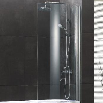 A059 Polished Chrome Frame Bath Shower Screen Seal Bathtub Enclosure Walk In Tub Combo Corner