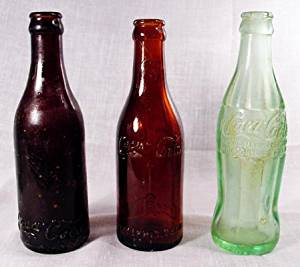 Antique COKE Bottle Set 3 Vintage Coke Bottles