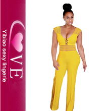 Hallow Out <span class=keywords><strong>Bodycon</strong></span> Rompers Jumpsuit Panjang Celana Wanita Sexy One Piece Pakaian Ropa Mujer