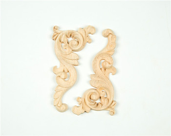 Solid wood material and retro wooden carving scroll corner