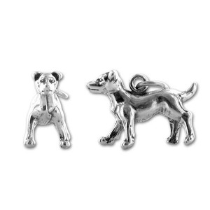 H100143 Yiwu Huilin jewelry Pet series antique silver animal dachshund charms pendant