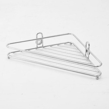 Stainless Steel Wire Bathroom Corner Shelf