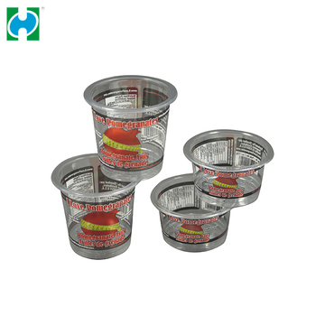 Custom PET Plastic Jelly Cup Disposable Yogurt Juice Cups Cup