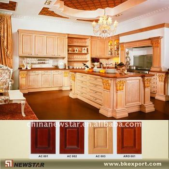Solid Wood Pantry Cabinet For Kitchen