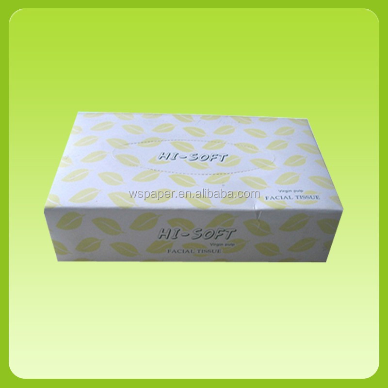 Box facial tissue virgin  paper pulp factory in dongguan