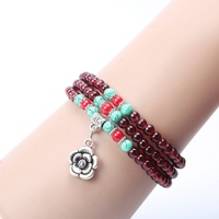 Wholesale DIY Three Circle Friendship Gift Custom Bead Jewelry Bracelet