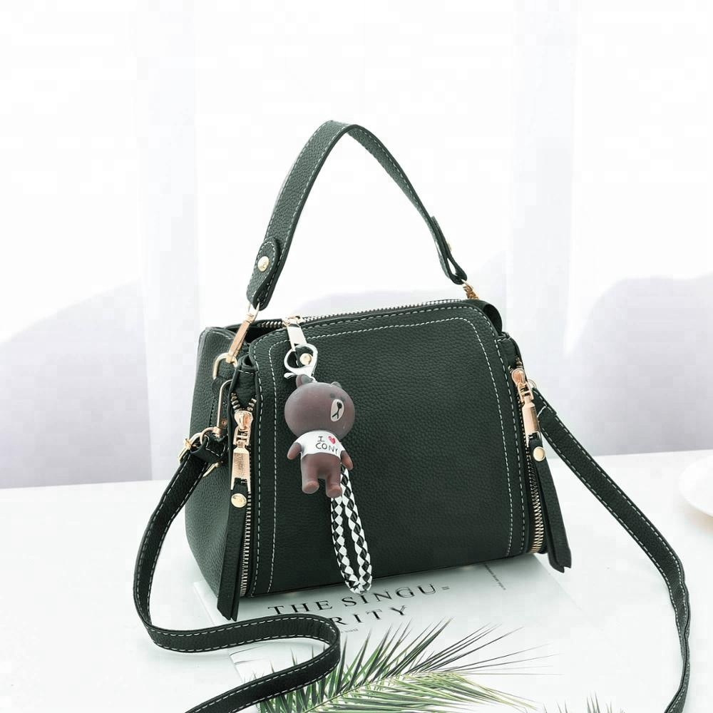 Classy Boston Handbags For 2018 Good Pu Leather Shoulder Bags With Cartoon Women Cute S Casual