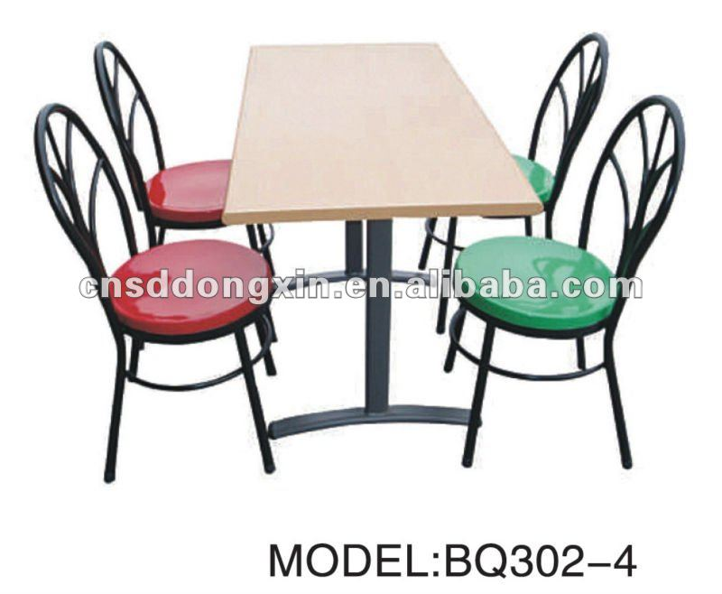 restaurant table et chaise pour quatre personnes table de cantine avec chaise l 39 cole bq302 4. Black Bedroom Furniture Sets. Home Design Ideas