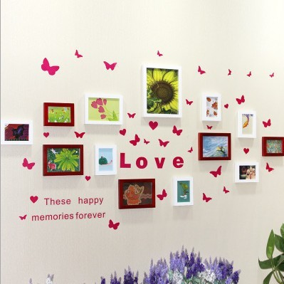 handmade hanging love words photo frame wall latest design wood of high quality