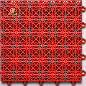 Outdoor Usage and Grid Floor Surface Wholesale Plastic Waterproof Interlocking Mat Tiles Garage Floor