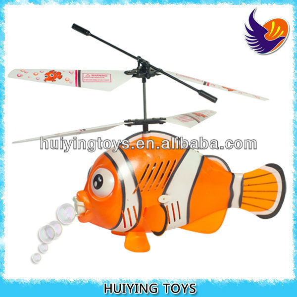 RC Bubble Helicopter Fish, Radio Control Clown Fish