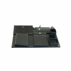 High quality black leather stationery sets