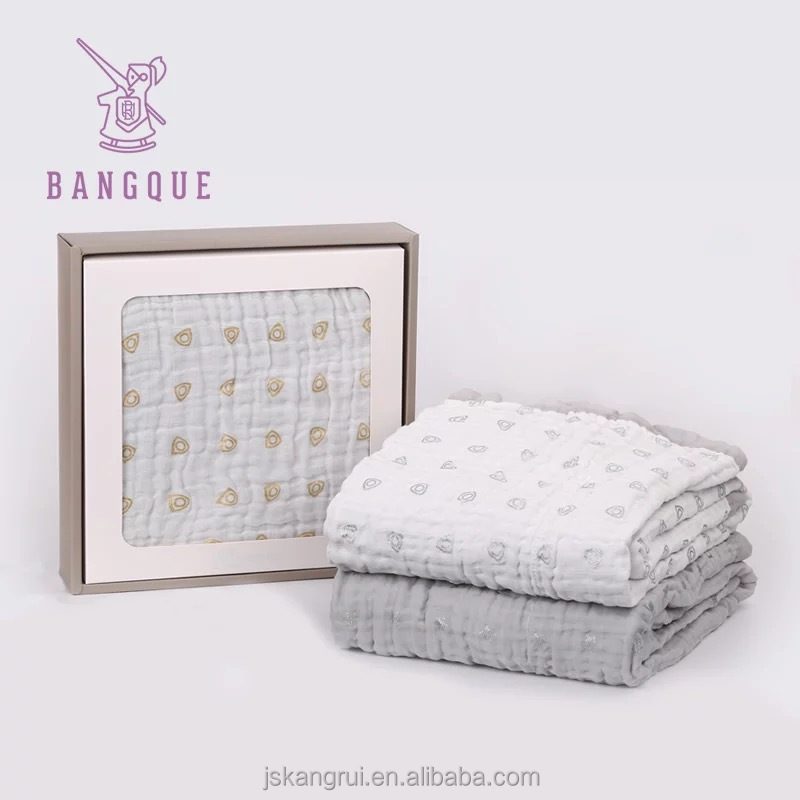 2018 gray printed easy washing cotton quilt <strong>baby</strong>