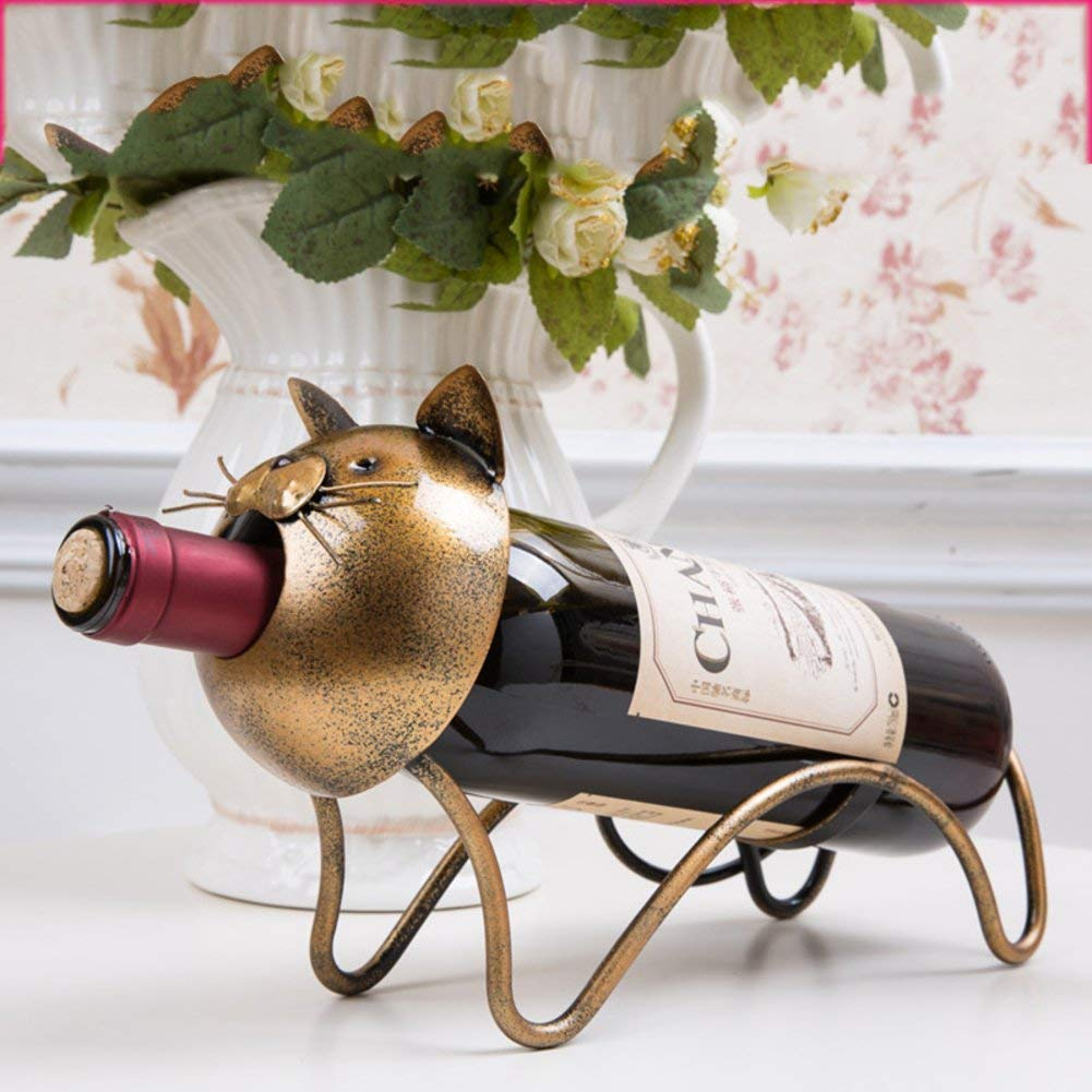 TY&WJ Creative Wine bottle holder [iron] European style Stylish [decoration] Wine shelf [household] [restaurant] Kitchen Bar pub Senior Wine rack-E