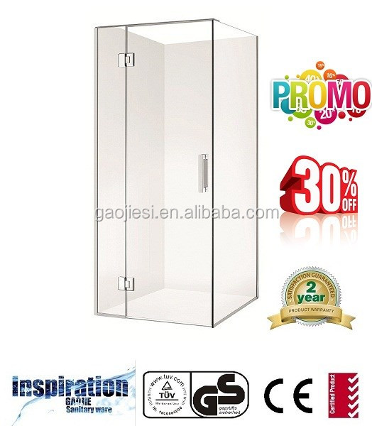 Gaojie UF-10-10mm toughened safety glass-2 sided square hinge shower enclosure-900mm*900mm*2000mm-AS/NZS 2208