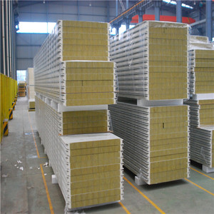 Fireproof Fiber Cement Wall Sandwich Panel Rockwool Sandwich Panels  Thailand With Cheap Price