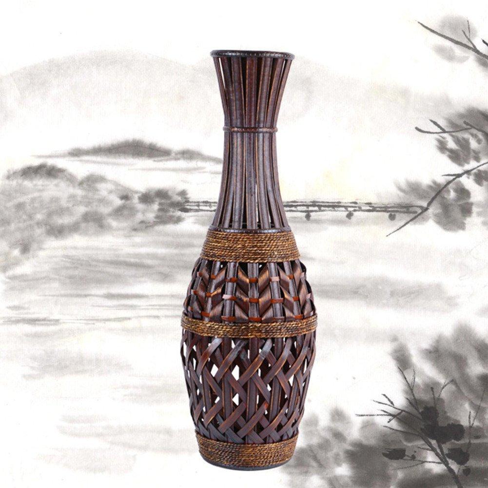 Cheap bamboo flower vase designs find bamboo flower vase designs get quotations hynbase retro creative home arts crafts european floor bamboo flower vase reviewsmspy