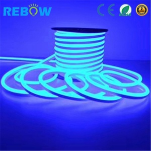 China Waterproof pool light 12v 24v RGB led neon flexible strip IP68 led neon flex