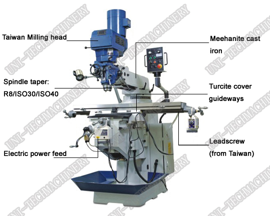Conventional Milling Machine : Conventional milling machine dro universal