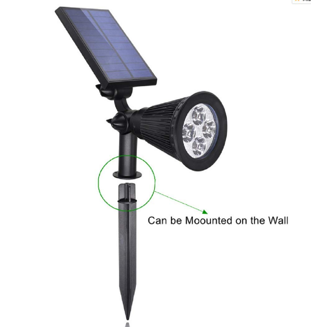 Global Dream Solar Lights,Solar Lights 2-in-1 Waterproof Outdoor Landscape Lighting Spotlight Wall Light Auto On/Off for Driveway Pathway Pool Yard Garden,Pack of 2