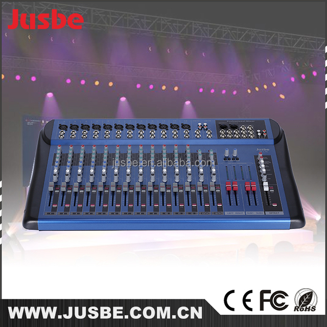 JB-L16 high quality 16 channel dj music mixer download , microphone professional recording , wireless microphones
