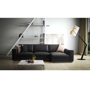 New products cheap convertible black italy design sofa set