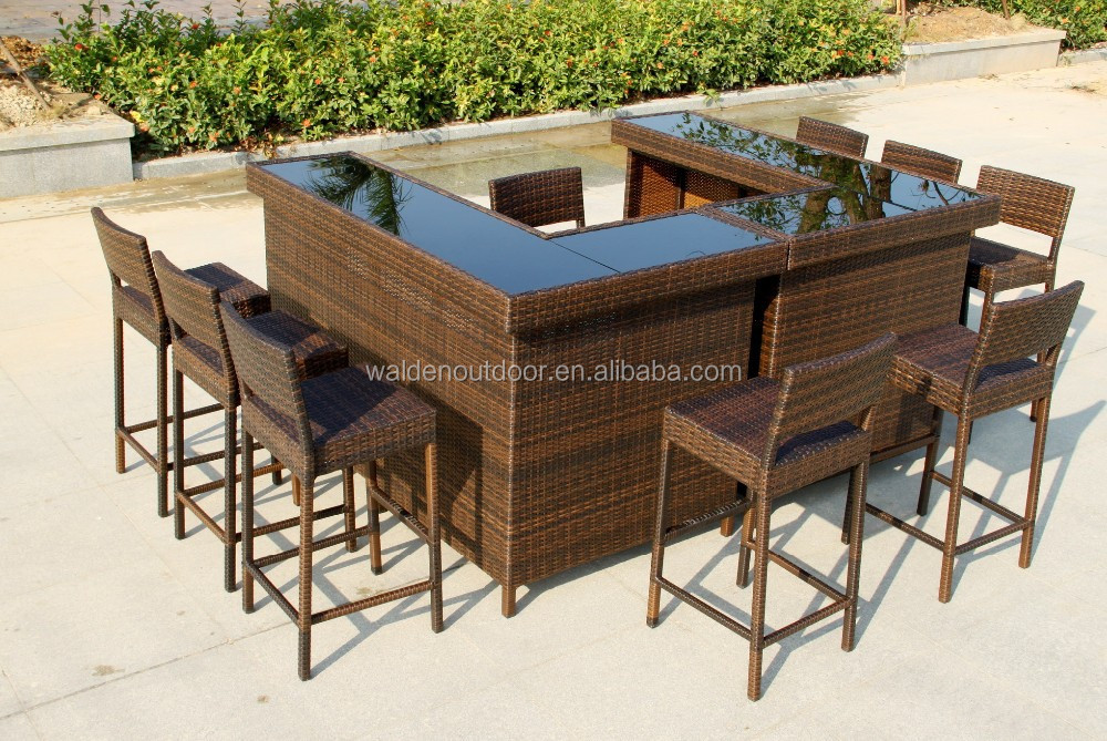 maison mobilier de bar bar en plein air de table mer en osier tabouret de bar tables de bar. Black Bedroom Furniture Sets. Home Design Ideas