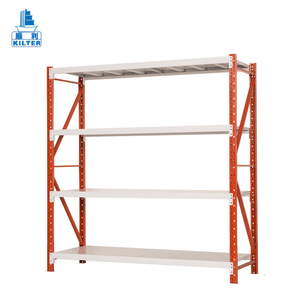Heavy duty adjustable angle steel iron warehouse storage shelf rack system for goods