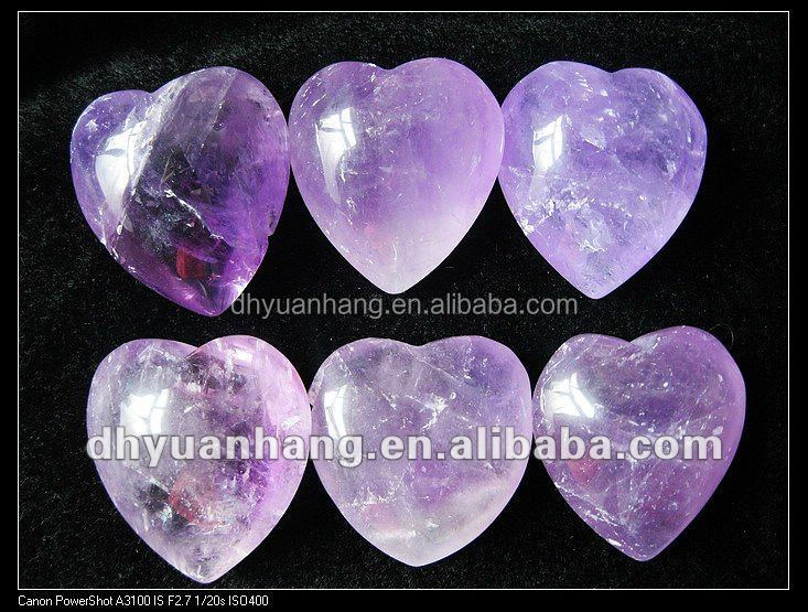 Hearts Amethyst Lover