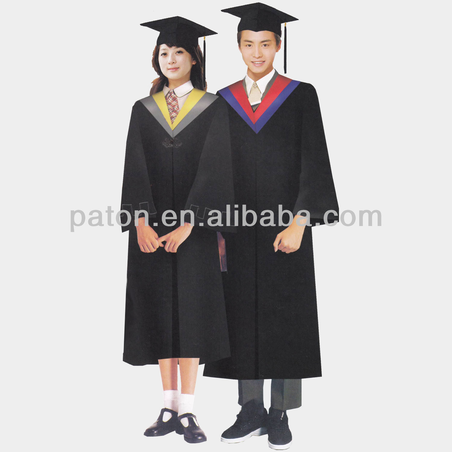 classic graduation gowns for university students
