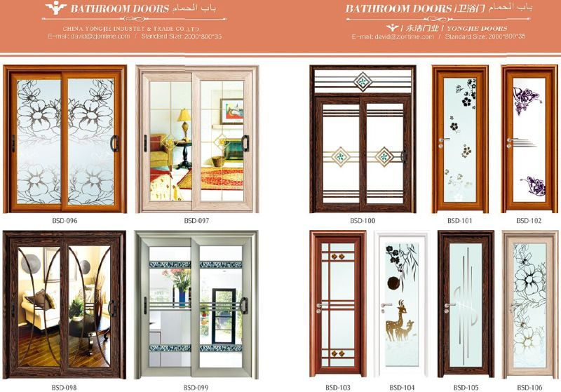 Best 25 bathroom doors types decorating design of for Different types of interior doors