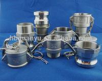 Stainless Steel Quick Copling Adaptor Male/Female coupler dust cap/plug