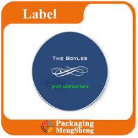 Custom address Cute Round Label Sticker Factory Printing